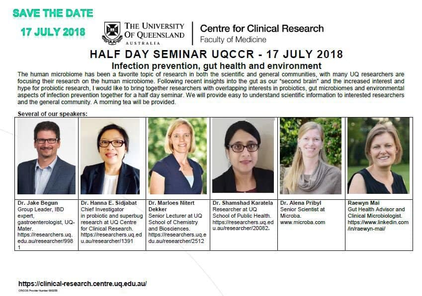 Infection prevention,  gut health and environment, 17 July, Brisbane