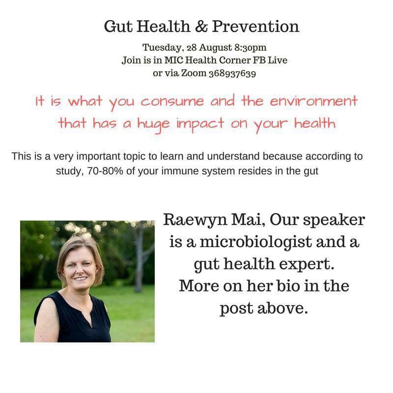 Gut Health & Prevention, 28 Aug 2018